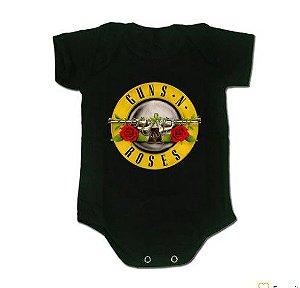Body Bebê Guns n Roses (Logo Amarelo)