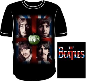 Camisa The Beatles Bandeira Inglaterra Maça