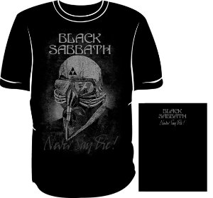 Camisa Black Sabbath Never Say Die! Máscara Graffite