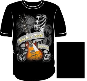 Camisa Rock In Roll Forever