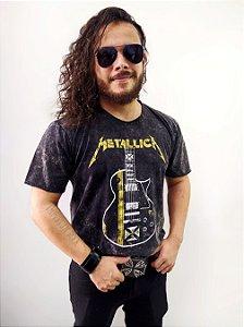 Camisa Estonada Metallica Guitarra
