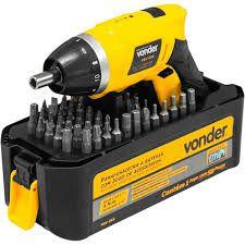 Parafusadeira a bateria 3,6 V, bivolt, jg 55 acessórios, PBV 055, VONDER 60.01.055.360