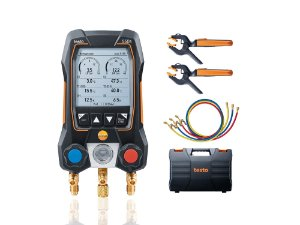 Testo 550s Kit Smart com mangueiras - Manifold digital, inclui 2x 115i, maleta, manual, prot e 3x mangueiras 05645503