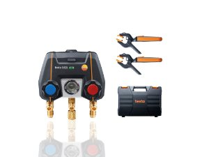 Testo 550i Kit SMART - Manifold digital operacao via app, incluindo 2x 115i, maleta, manual e protocolo de calibracao 0564335