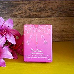 Sabonete Natural Gerânio, Ylang Ylang e Rosa Mosqueta 100g - Pura Chuva