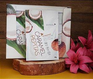 Box com 10 unidades - Caramel Pepitas Protein Snacks - PURA VIDA