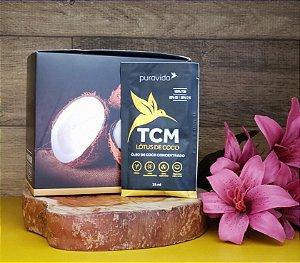 Box com 20 sachês - Lótus de Coco: Óleo de coco TCM concentrado - PURA VIDA