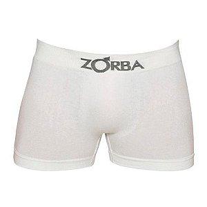 Cueca Zorba Boxer Branca - Algodão sem costura - 781