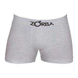 Cueca Zorba Boxer Cinza - Algodão sem costura - 781