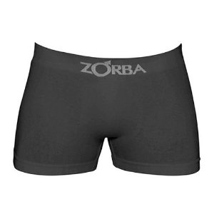 Cueca Zorba Boxer Preta - Algodão sem costura - 781