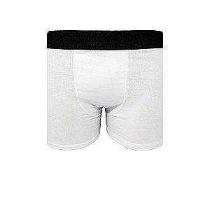 Cueca Boxer Lisa Básica de Algodão C10 Branca