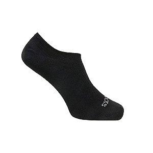 Meia Básica Invisível de Algodão Preto Ted Socks 1300
