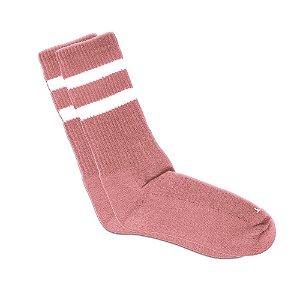 Meia Cano Longo Rosa Listrada Ted Socks 2700