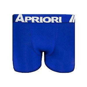 Cueca Boxer Lisa Microfibra Azul Royal Apriori