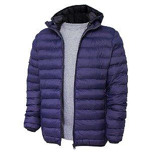 Jaqueta de Nylon Puff Unissex Azul