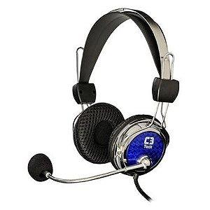 Headset C3 Tech  Pterodax Prata/Azul - MI-2322RC