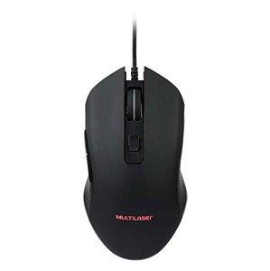 Kit Gamer Multilaser - Teclado LED, ABNT2 + Mouse LED, 2400 DPI - TC239
