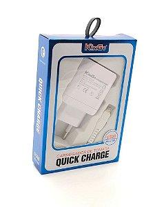 Kit Carregador De Tomada Quick Charge 3.0 (U330)