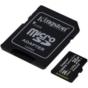 Cartão de Memória Kingston Canvas Select Plus MicroSD 32GB Classe 10 com Adaptador, para Câmeras Automáticas/Dispositivo