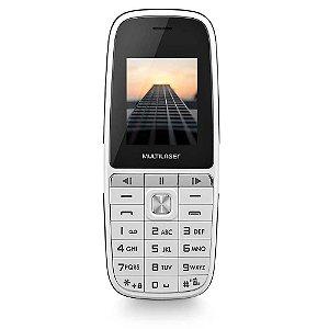 Celular Multilaser Up Play Dual Chip, Câmera, MP3, Rádio FM, Bluetooth, Lanterna Branco - P9077