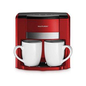 Cafeteira Multilaser 2 Xícaras 220V 500W - Filtro Permanente e Colher Dosadora - Vermelho - BE016