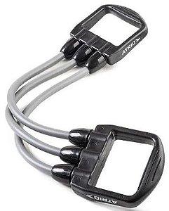 Extensor Elástico Fitness Átrio ES233 Cinza E Preto