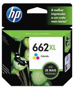 Cartucho de Tinta HP 662XL 8ml Colorido de Alto Rendimento