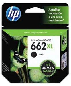 Cartucho de Tinta HP 662XL 6,5ml Preto de Alto Rendimento