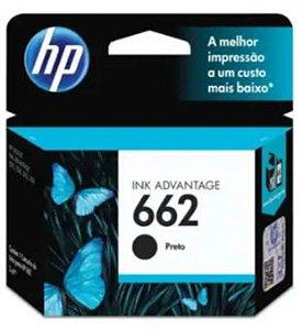 Cartucho de Tinta HP 662 2ml Preto