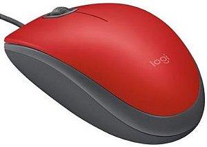 Mouse Logitech M110 com Clique Silencioso Vermelho