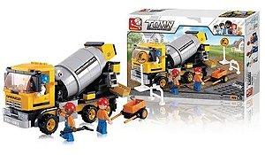 Jogo de Montar Construção Caminhão Betoneira com 296 Peças Multikids - BR829