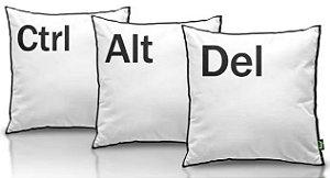 Jogo de Almofadas Ctrl + Alt + Del