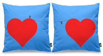 Jogo de Almofadas Tudo por Amor - 40 x 40 cm