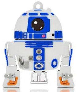 Pen Drive Star Wars R2D2 8GB USB Leitura 10MB/s e Gravação 3MB/s Multilaser - PD036