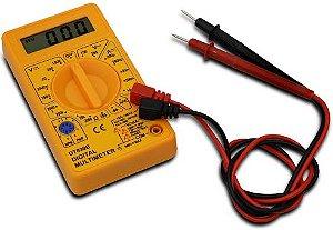 Multímetro Digital Dt-830b Medição De Tensão 9v Amarelo