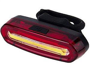 Lanterna Bike Sinalizador Traseiro Led Branco/Vermelho Recarregável AQY-096