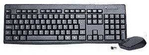 Kit Teclado e Mouse K-Mex Sem Fio KA-S229 + MA-A733 Preto