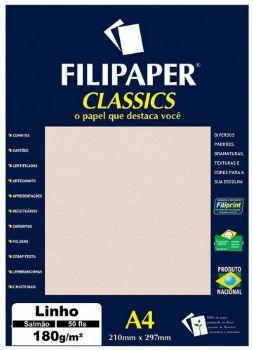 Papel Linho A4 Filipaper Classics 180g 50 Folhas Palha