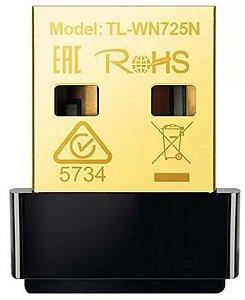 Adaptador Wireless 150 mbps 802.11n usb Nano TL-WN725N Tp Link