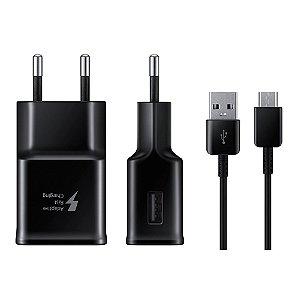 Carregador Samsung Fast Charge, Tipo C, TA20B