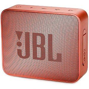 Caixa de Som JBL Go 2, Bluetooth, À Prova D´Água, 3.1W, Cinnamon - JBLGO2CINNAMON