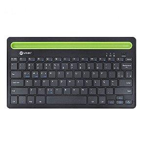Teclado Bluetooth 3.0 2.4 Ghz Dynamic Smart ABNT Com Suporte Para Tablet Ou Celular - Preto - Dt200