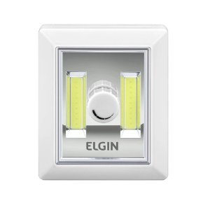 Mini Luminária Botão LED Dimerizável Portátil 3W 6500K Luz Branca Fria 3 Pilhas AAA Elgin