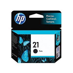 Cartucho de Tinta HP 21 7ml - Preto