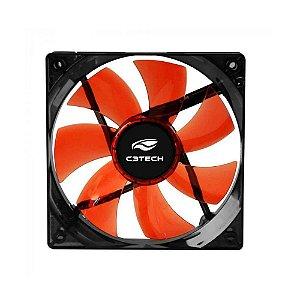 Cooler Gabinete 12cm C3 Tech Storm (Led Vermelho) - F7-L100RD