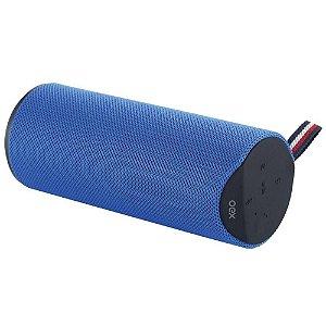 Caixa De Som Bluetooth Azul Oex Sk410