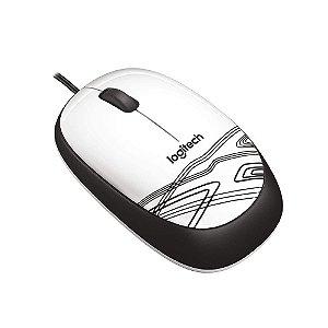 Mouse com fio Logitech M105 - Branco