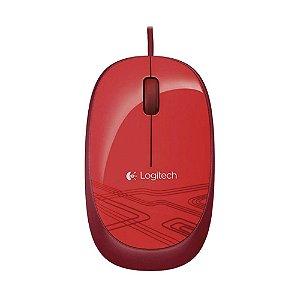 Mouse com fio Logitech M105 - Vermelho