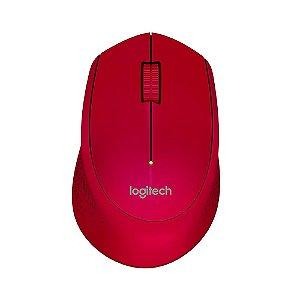 Mouse sem Fio USB Logitech M280 - Vermelho