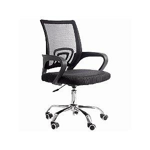 Cadeira De Escritorio Pctop Home Office Fit Preta - 1001
